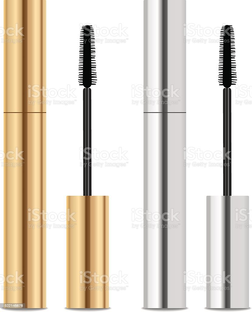 Mascara packaging. Place for your text vector art illustration