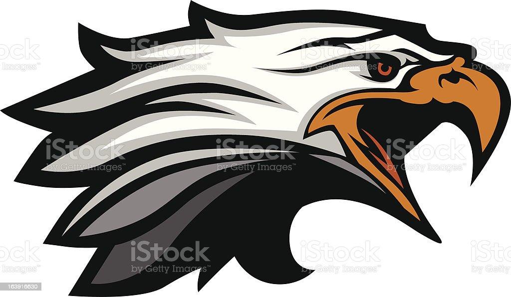 Mascot Head of an Eagle Vector Illustration vector art illustration