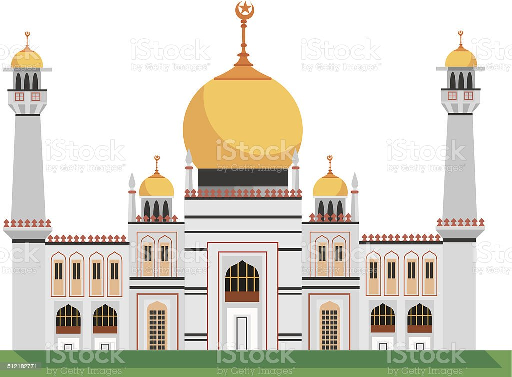 Masjid Sultan Mosque vector art illustration