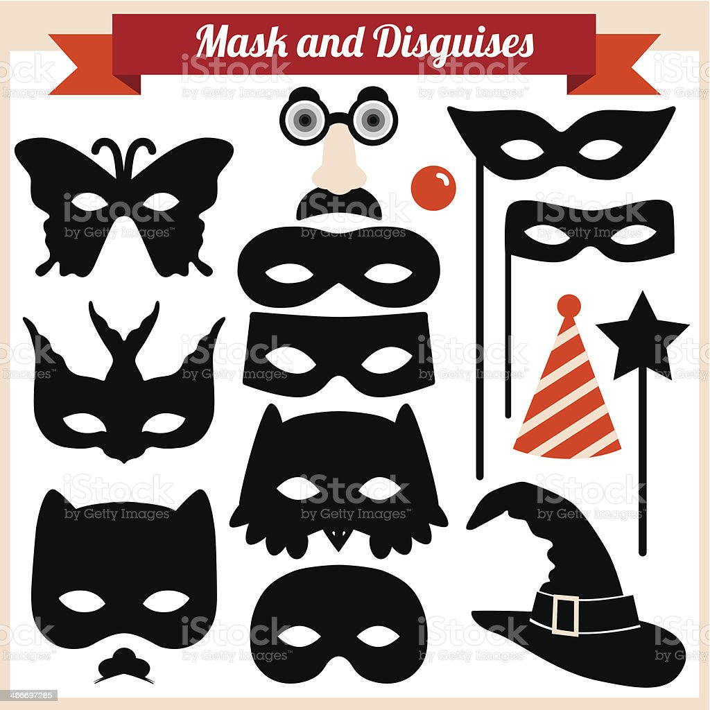 Mask and disguises vector art illustration
