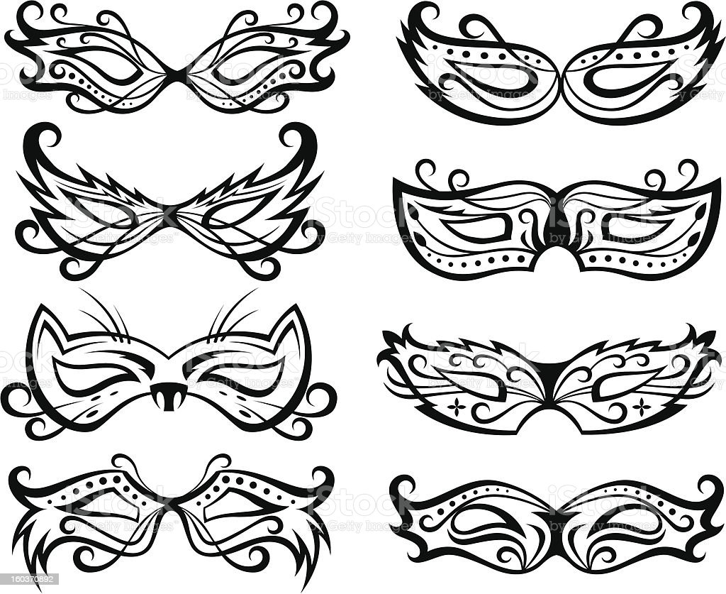 mask collection royalty-free stock vector art