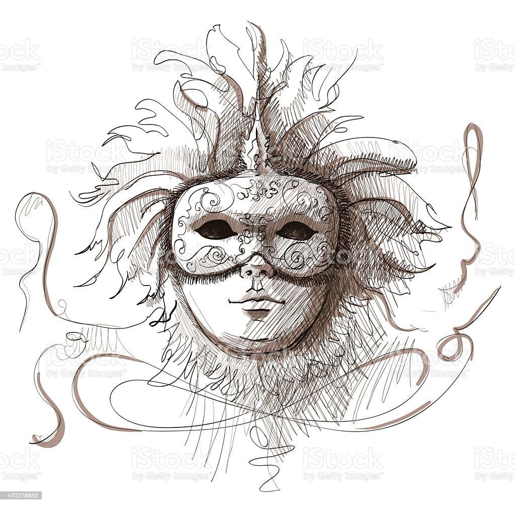 mask vector art illustration