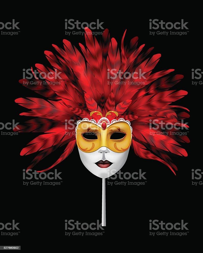 Mask. vector art illustration