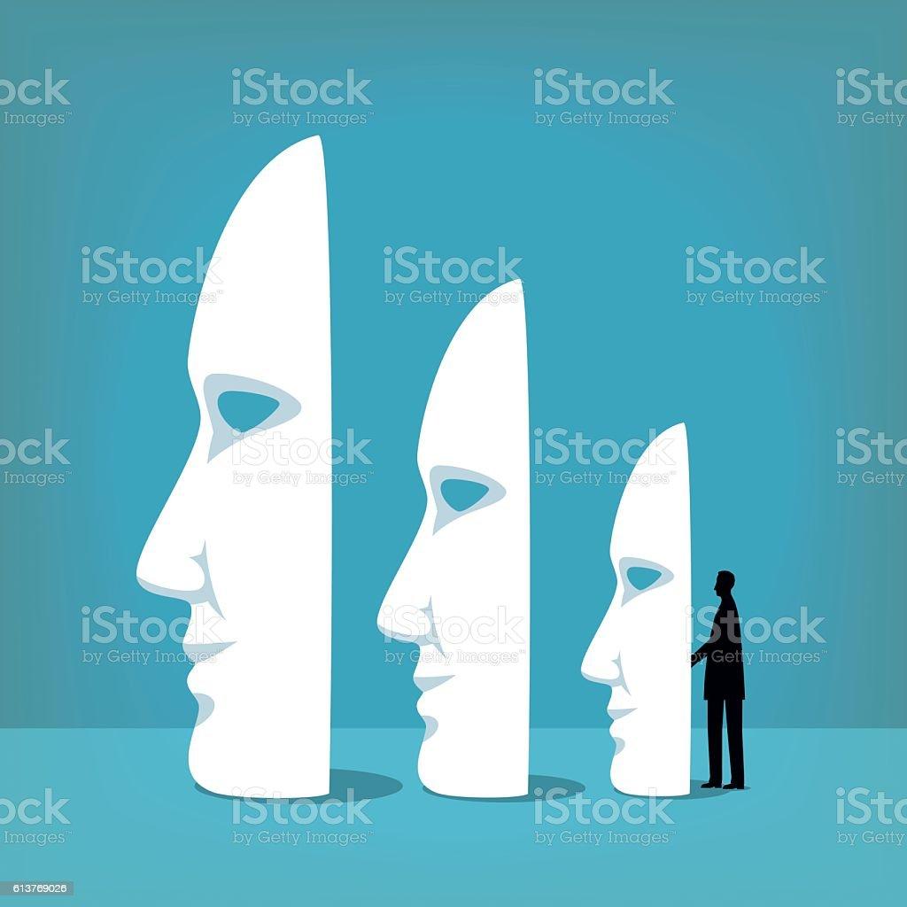 Masks vector art illustration