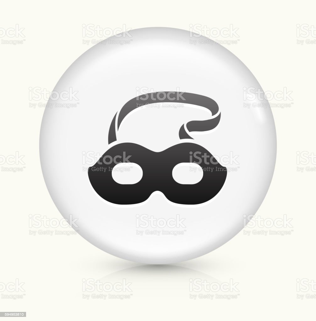 Masquerade Mask icon on white round vector button vector art illustration