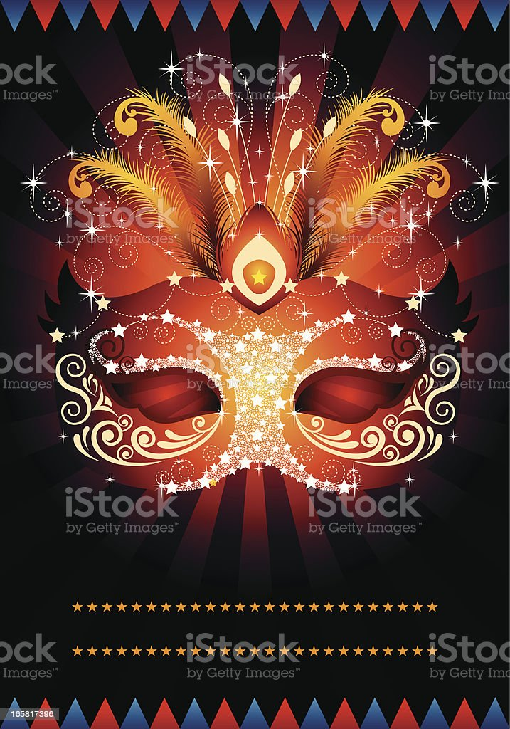 Masquerade Mask royalty-free stock vector art