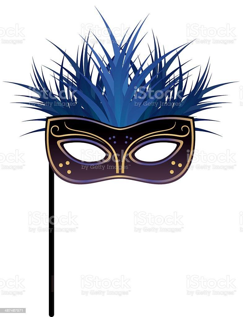Masquerade Mask vector art illustration
