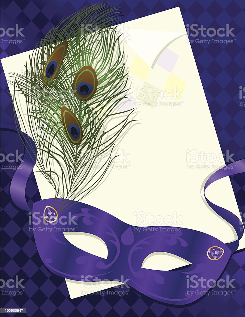 Masquerade or Mardi Gras Party vector art illustration