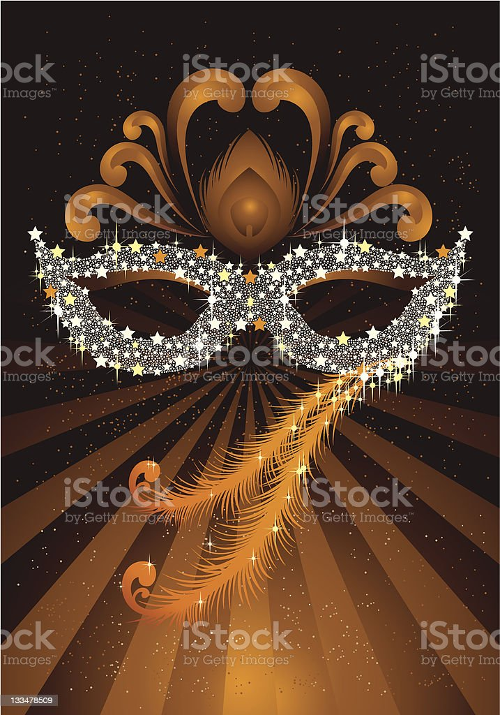 Masquerade Party Mask vector art illustration