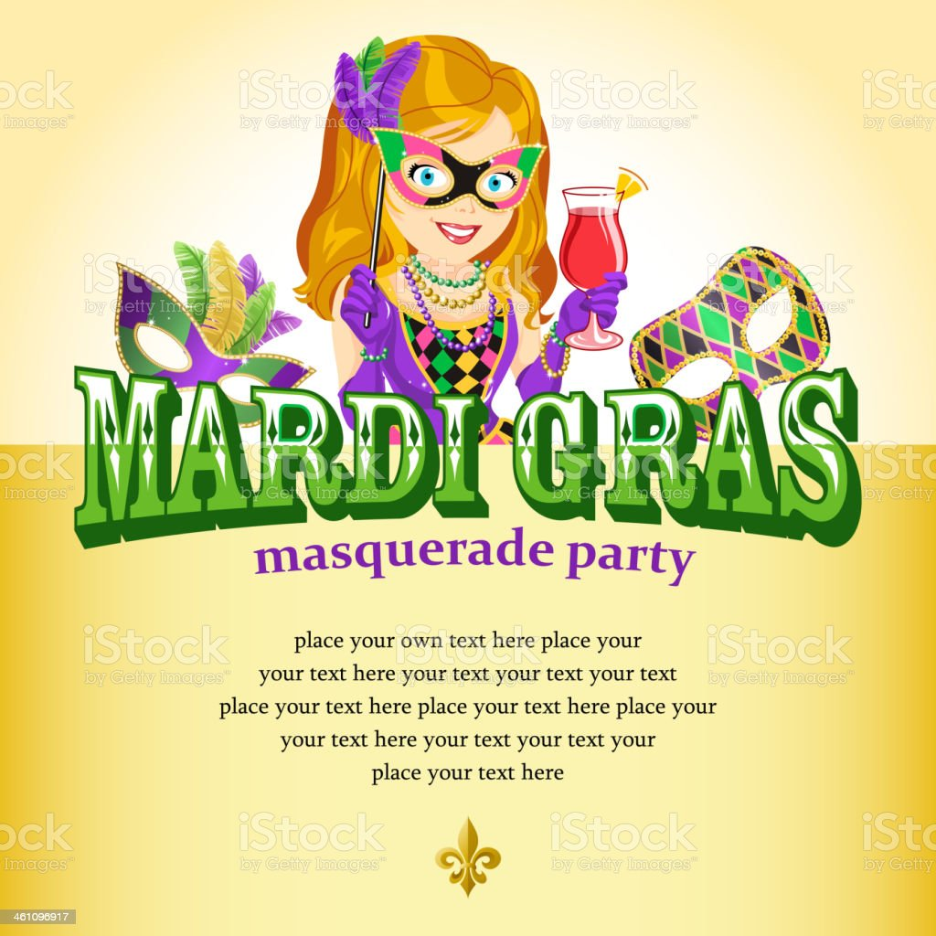 Masquerade Party royalty-free stock vector art