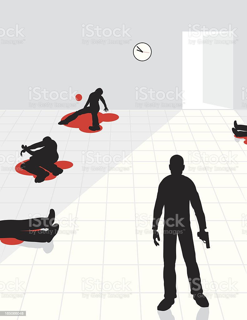 Mass Murder vector art illustration