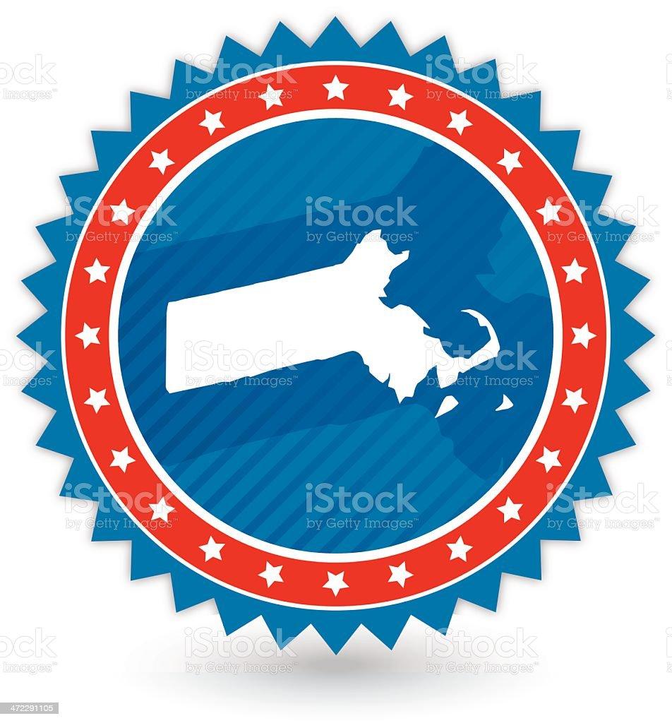 Massachusetts Badge royalty-free stock vector art