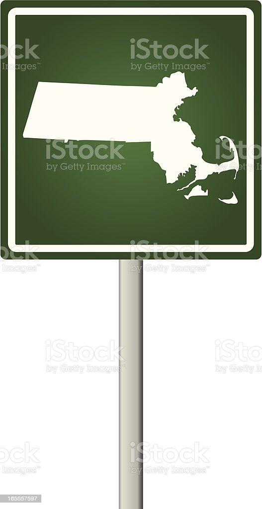 Massachusetts Sign royalty-free stock vector art