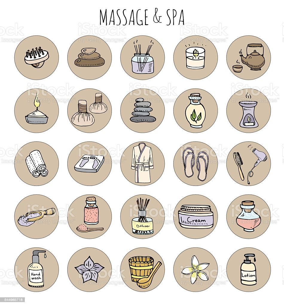 Massage and Spa vector art illustration