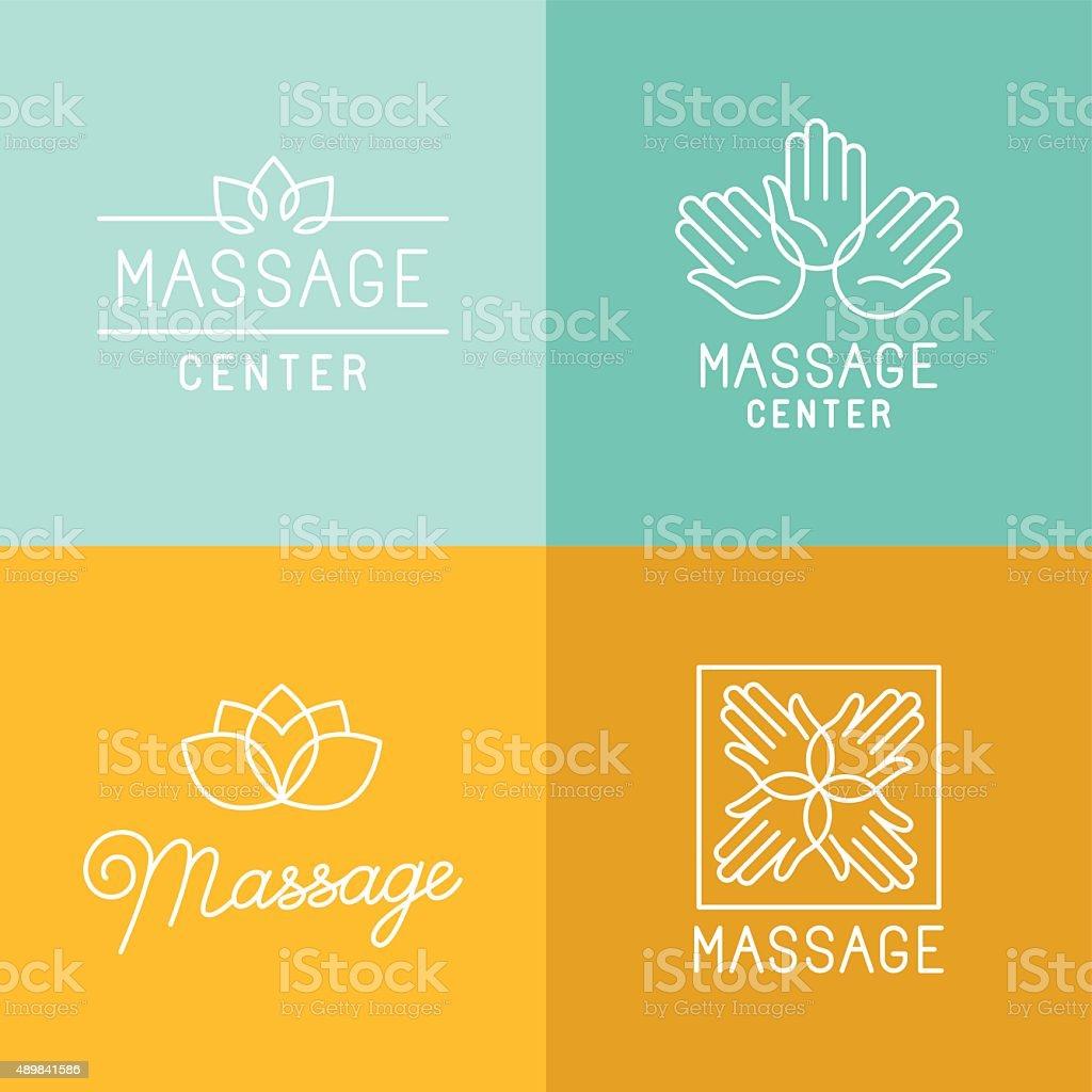 Massage logos vector art illustration
