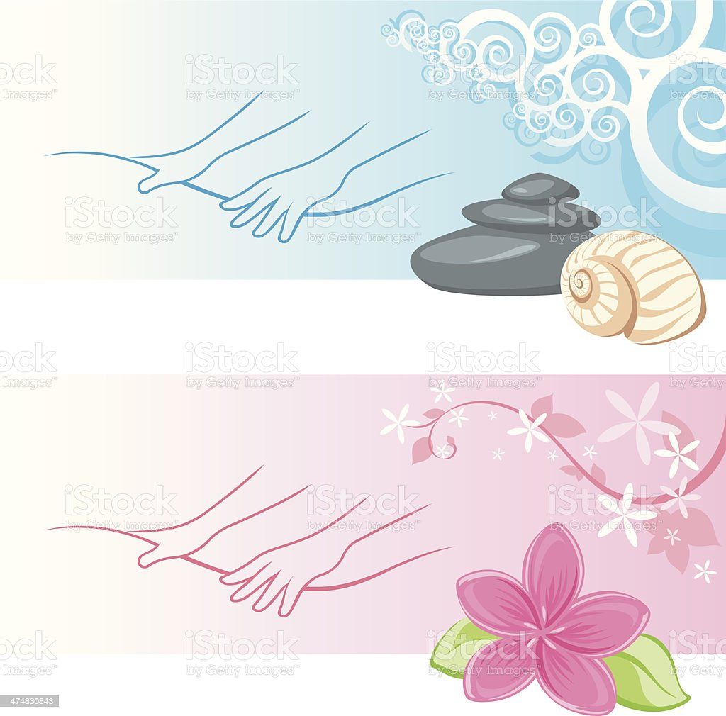 Massage studio vector art illustration