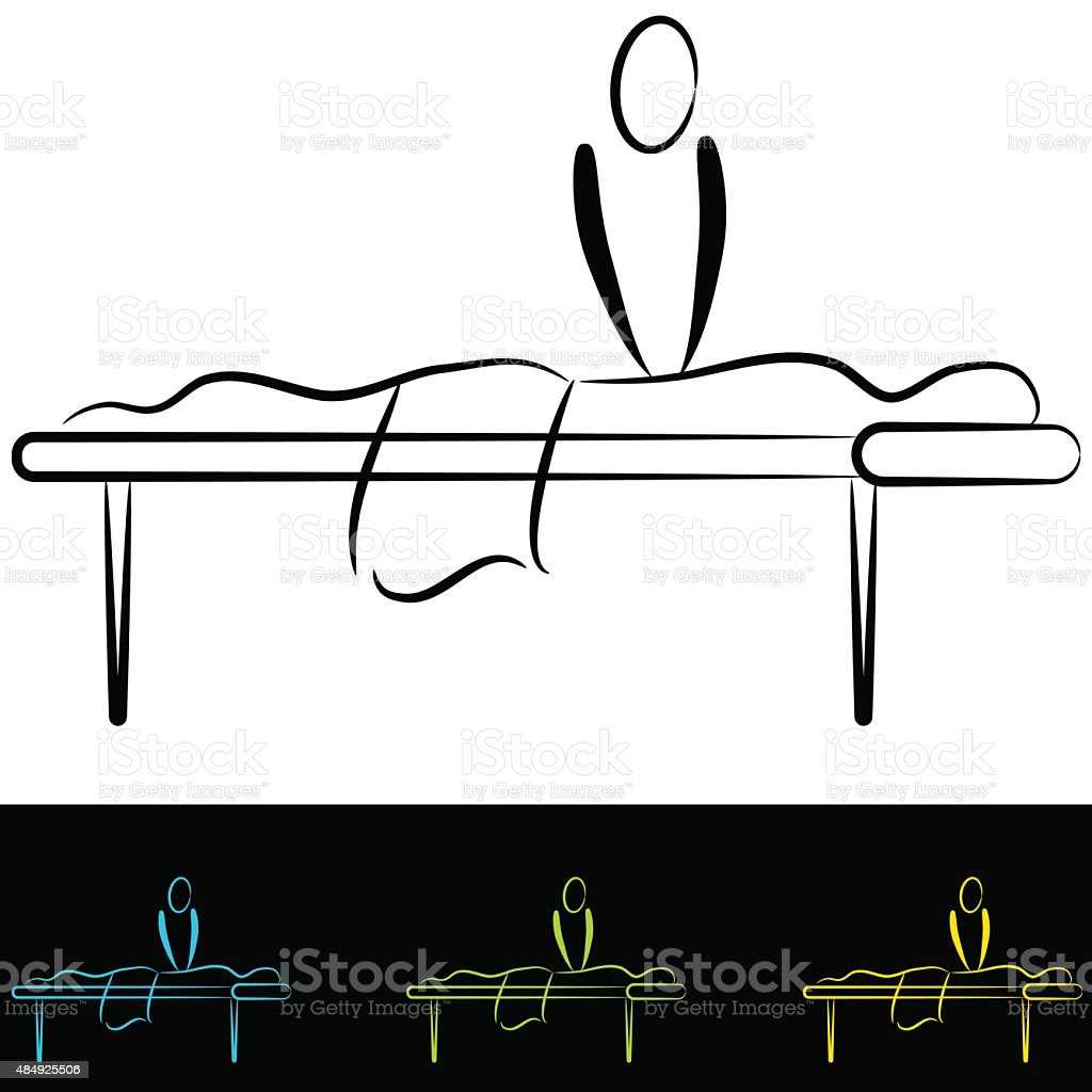 Massage Table vector art illustration