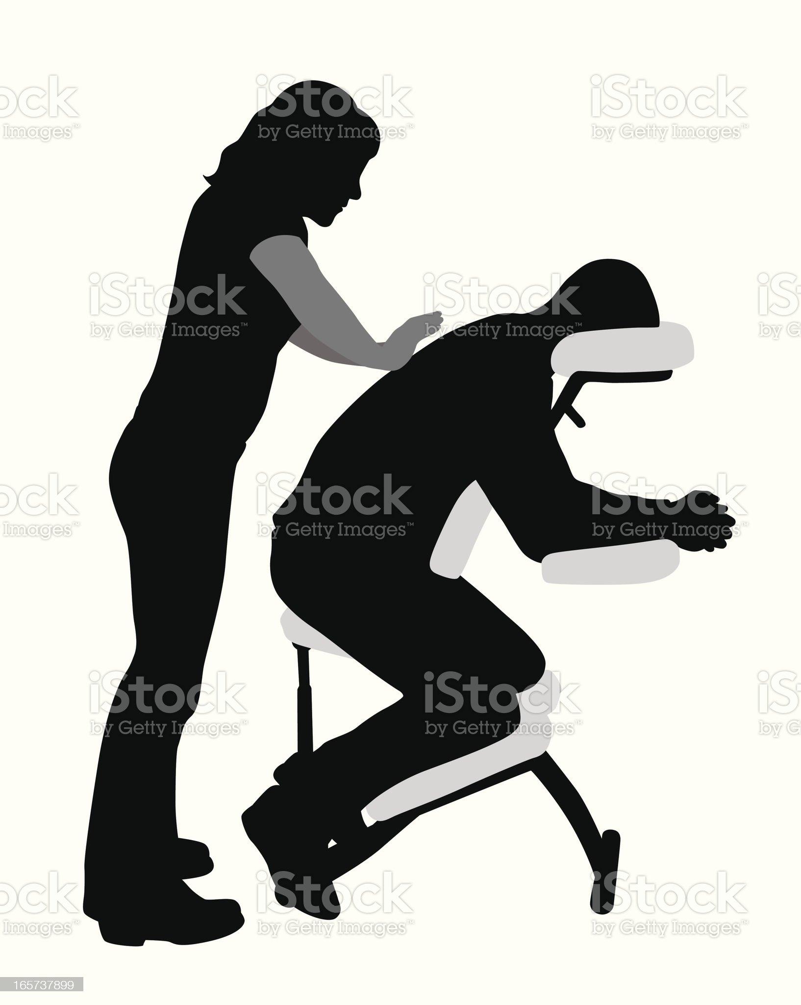 Massage Therapist Vector Silhouette royalty-free stock vector art