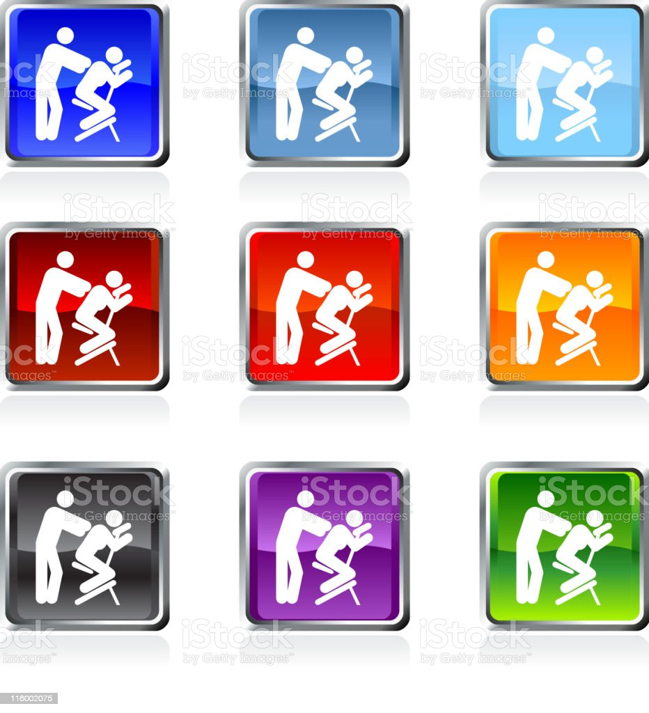 massage therapy icon in nine colors royalty-free stock vector art