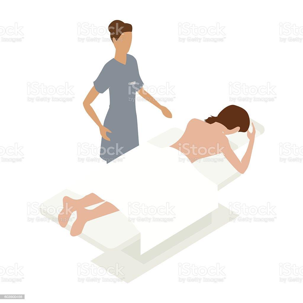 Massage therapy illustration vector art illustration