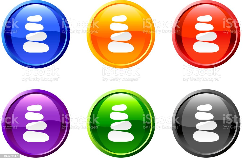 massage therapy stones button royalty free vector art vector art illustration