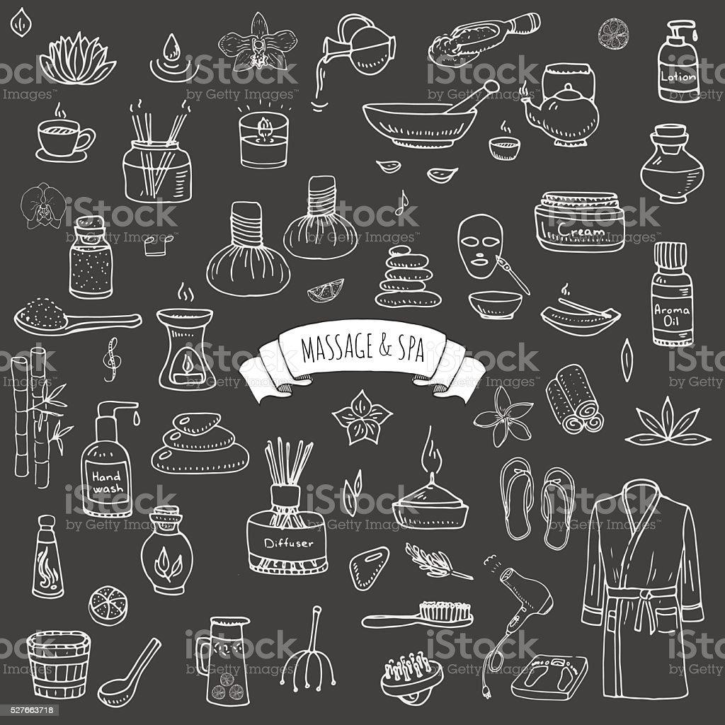 Massage&Spa vector art illustration