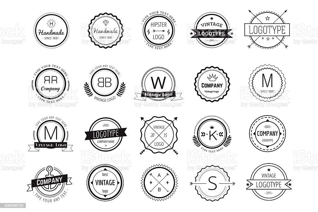 Massive icons badges template bundle vector art illustration