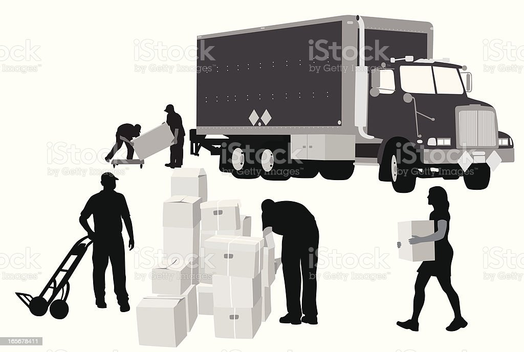 Massive Move Vector Silhouette vector art illustration