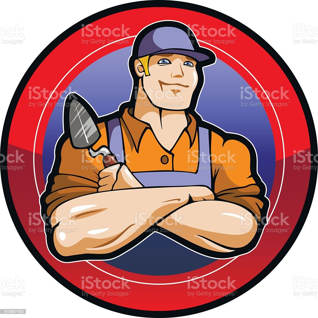 Master worker vector art illustration