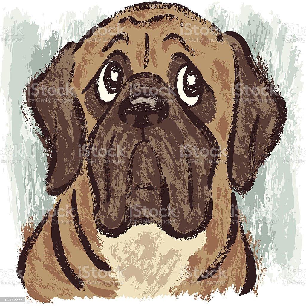 Mastiff royalty-free stock vector art