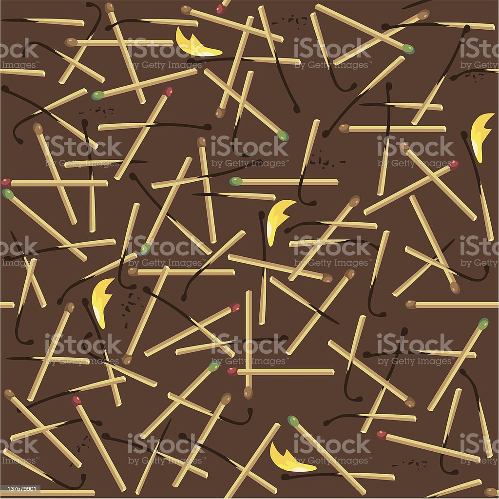 Matches royalty-free stock vector art