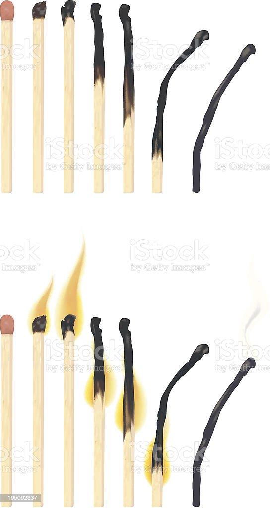 Matches vector art illustration