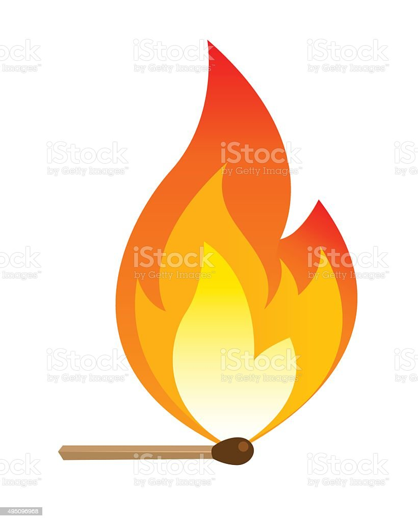 Matchstick vector art illustration