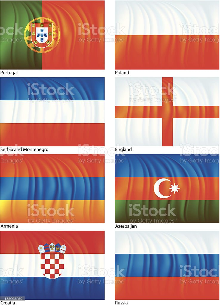 Material flag set six royalty-free stock vector art