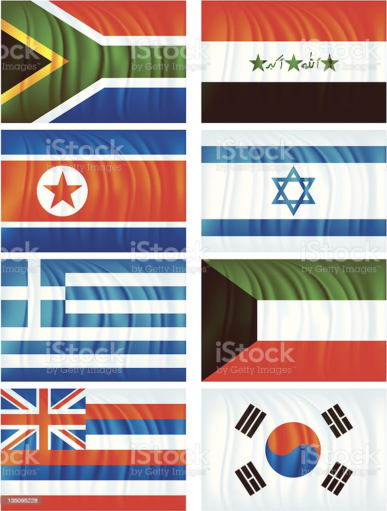 Material flags five royalty-free stock vector art