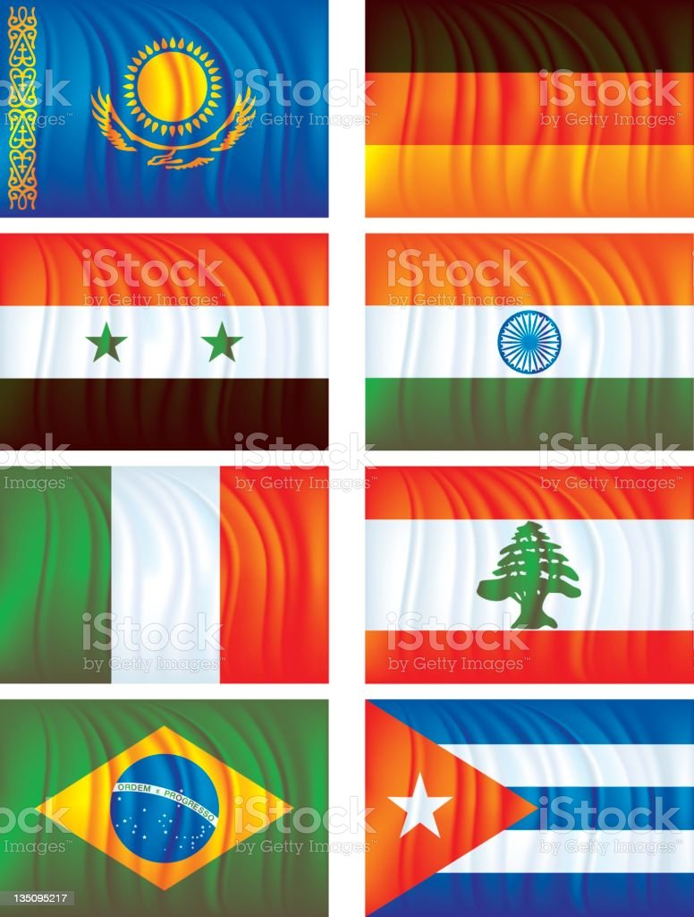 Material flags four royalty-free stock vector art