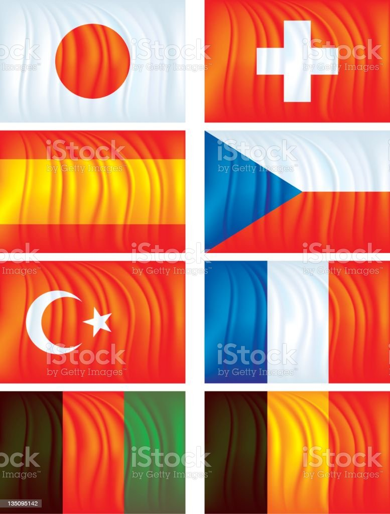 Material flags two royalty-free stock vector art