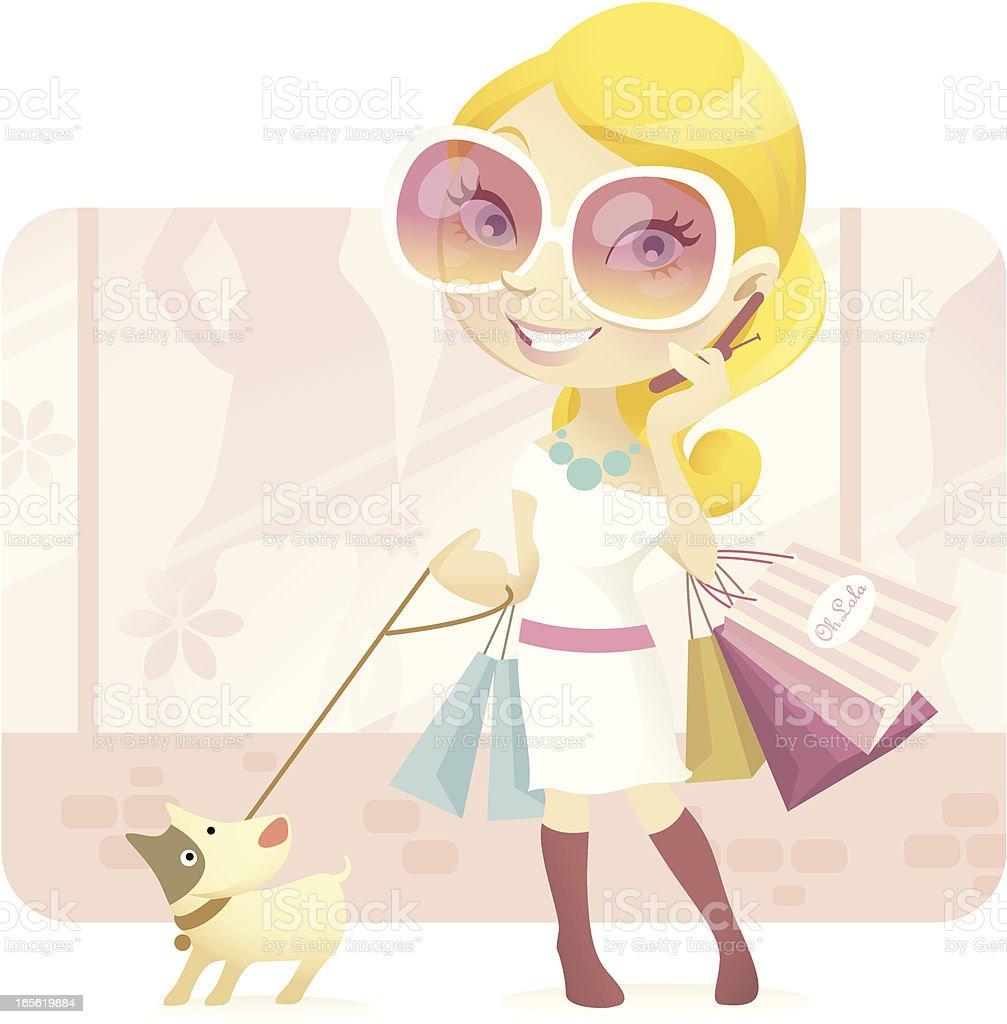 Material  Girl royalty-free stock vector art