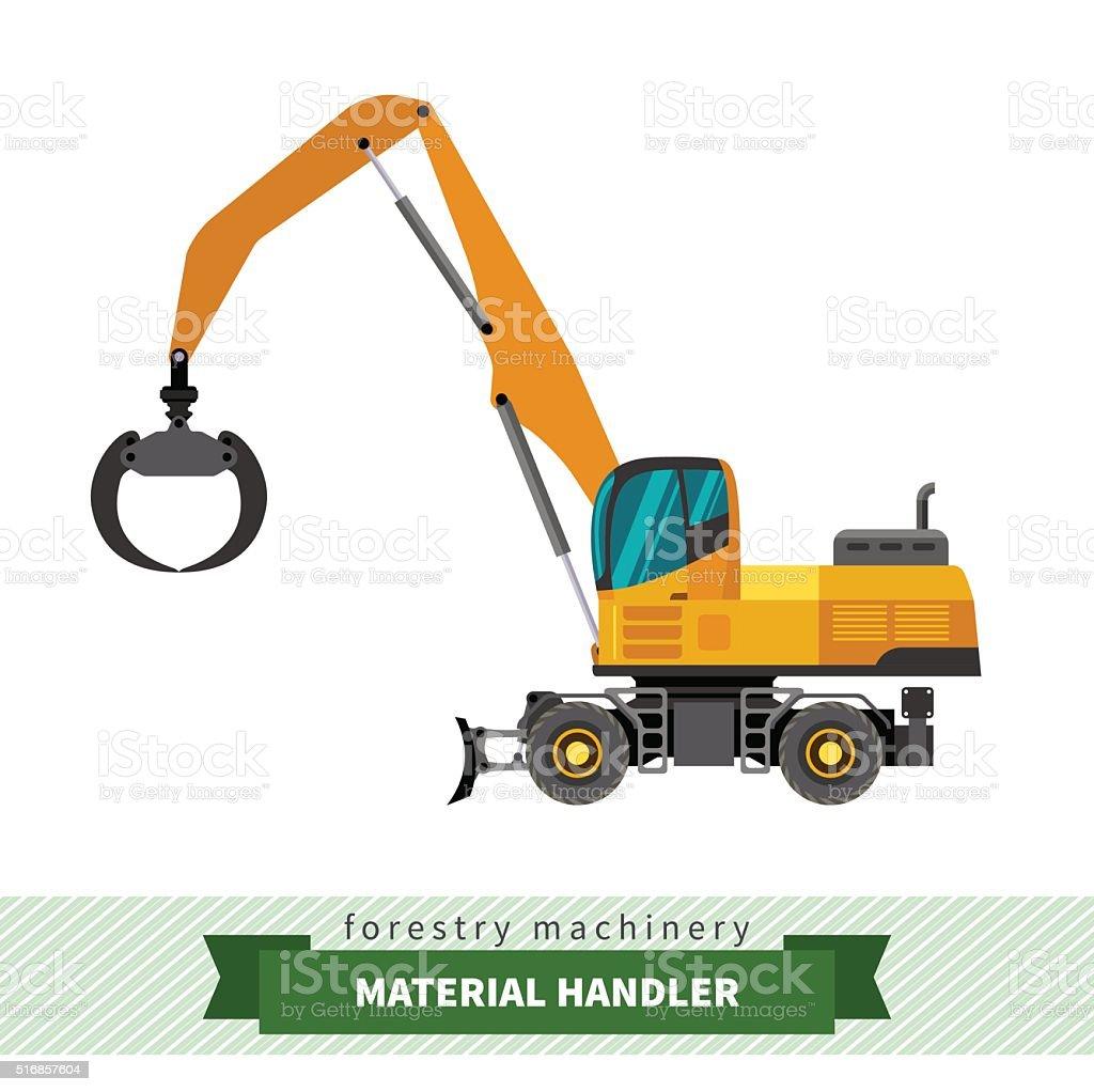 Material handler machine vector art illustration