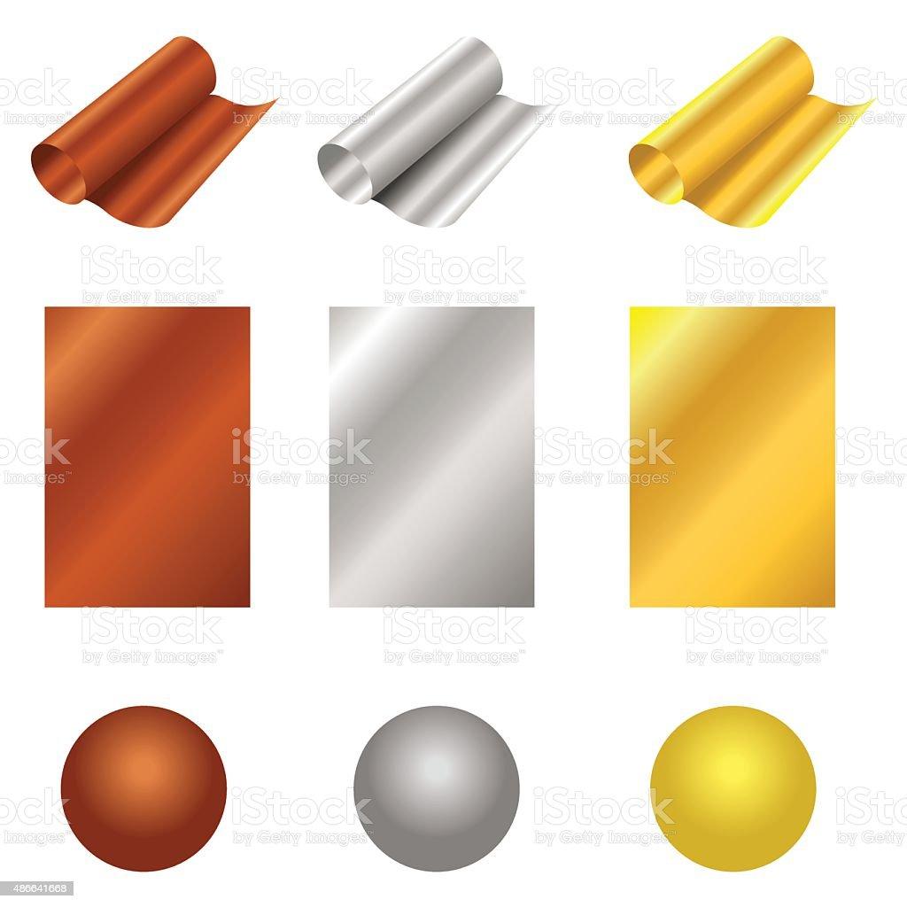Materials vector art illustration