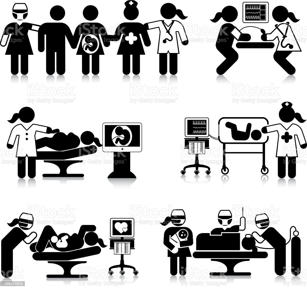 Maternity Department vector art illustration
