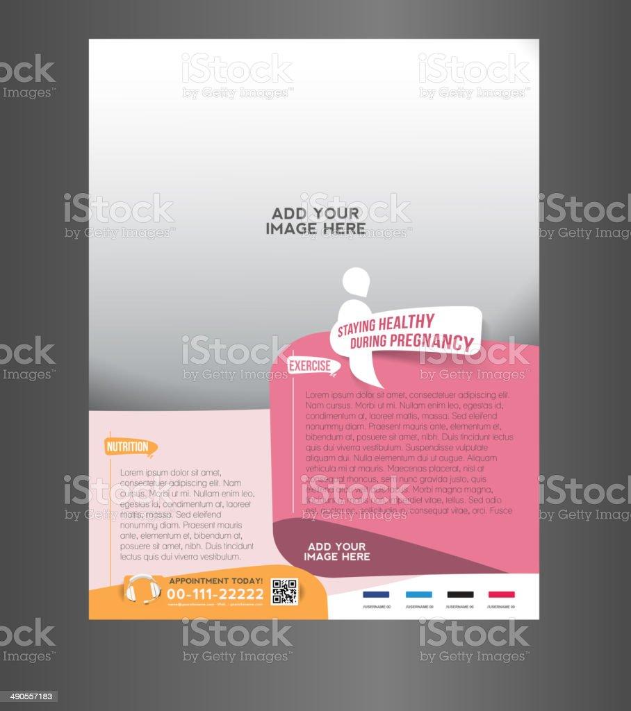 Maternity Hospital Flyer vector art illustration
