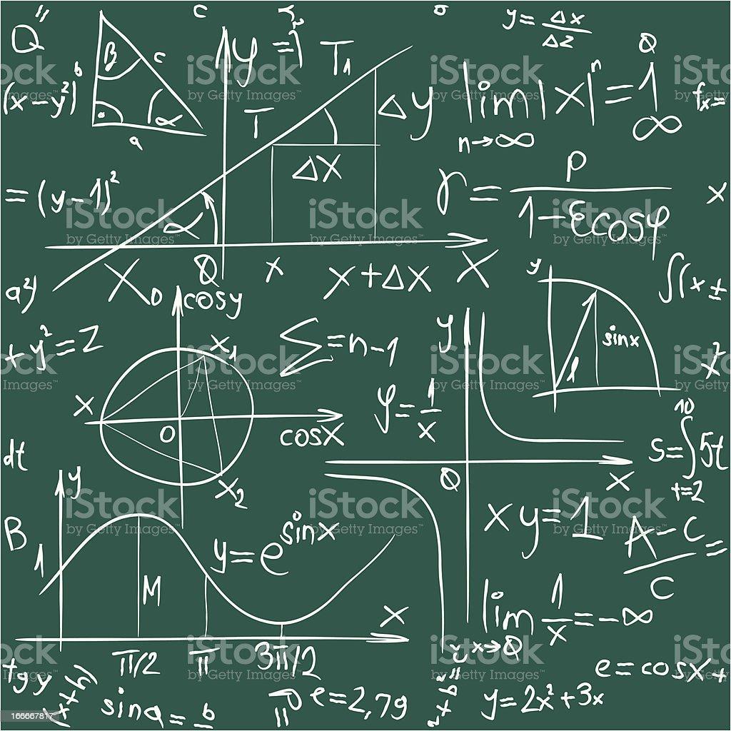 Math Background Pattern vector art illustration