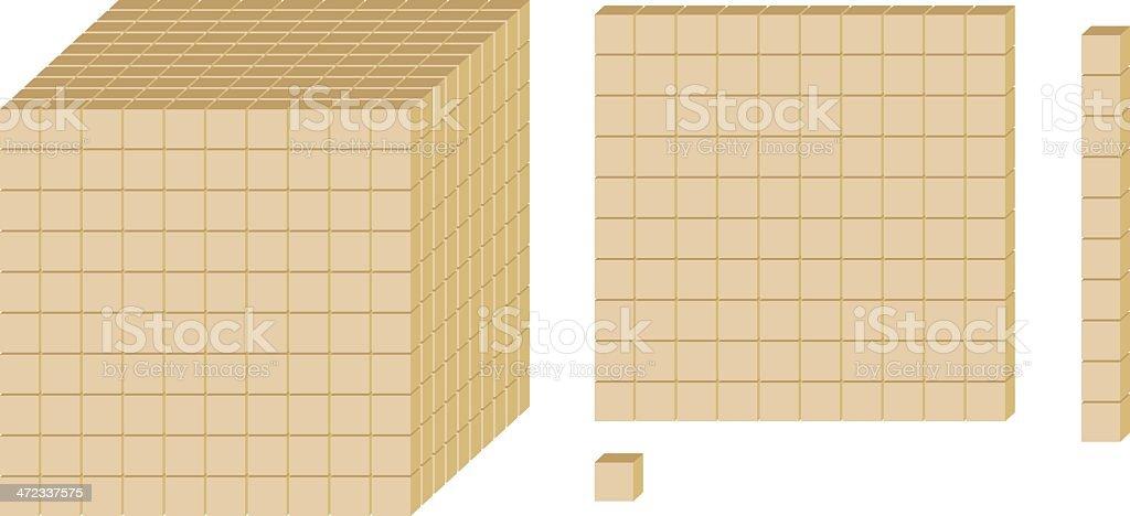 Math Blocks royalty-free stock vector art