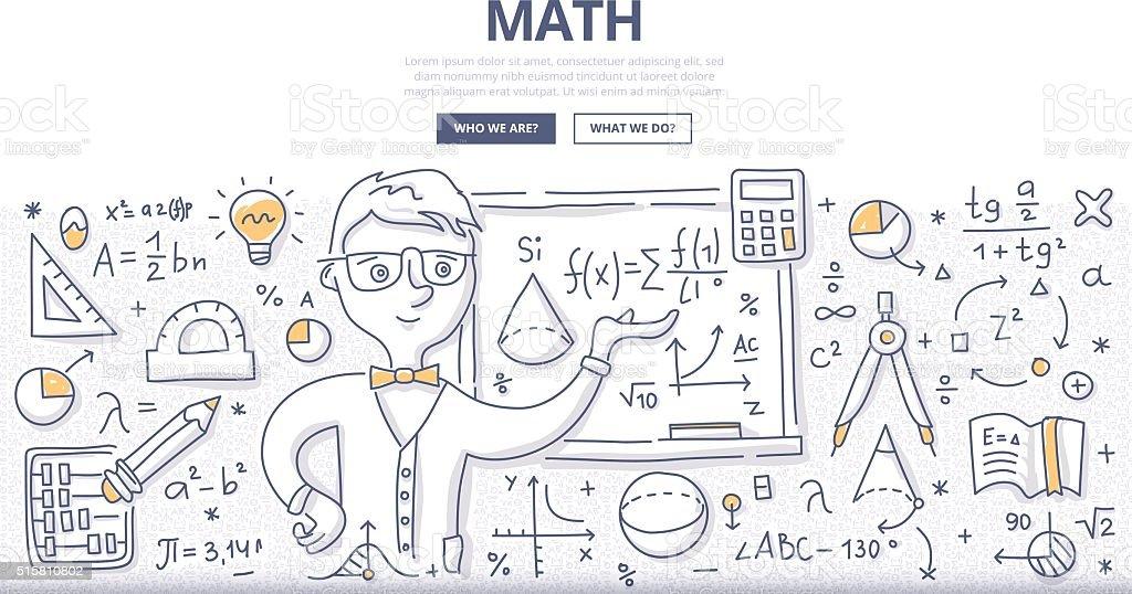 Math Doodle Concept vector art illustration
