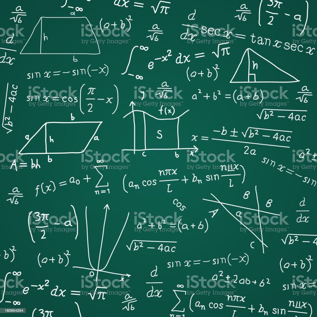 Math Formula Blackboard Calculation vector art illustration