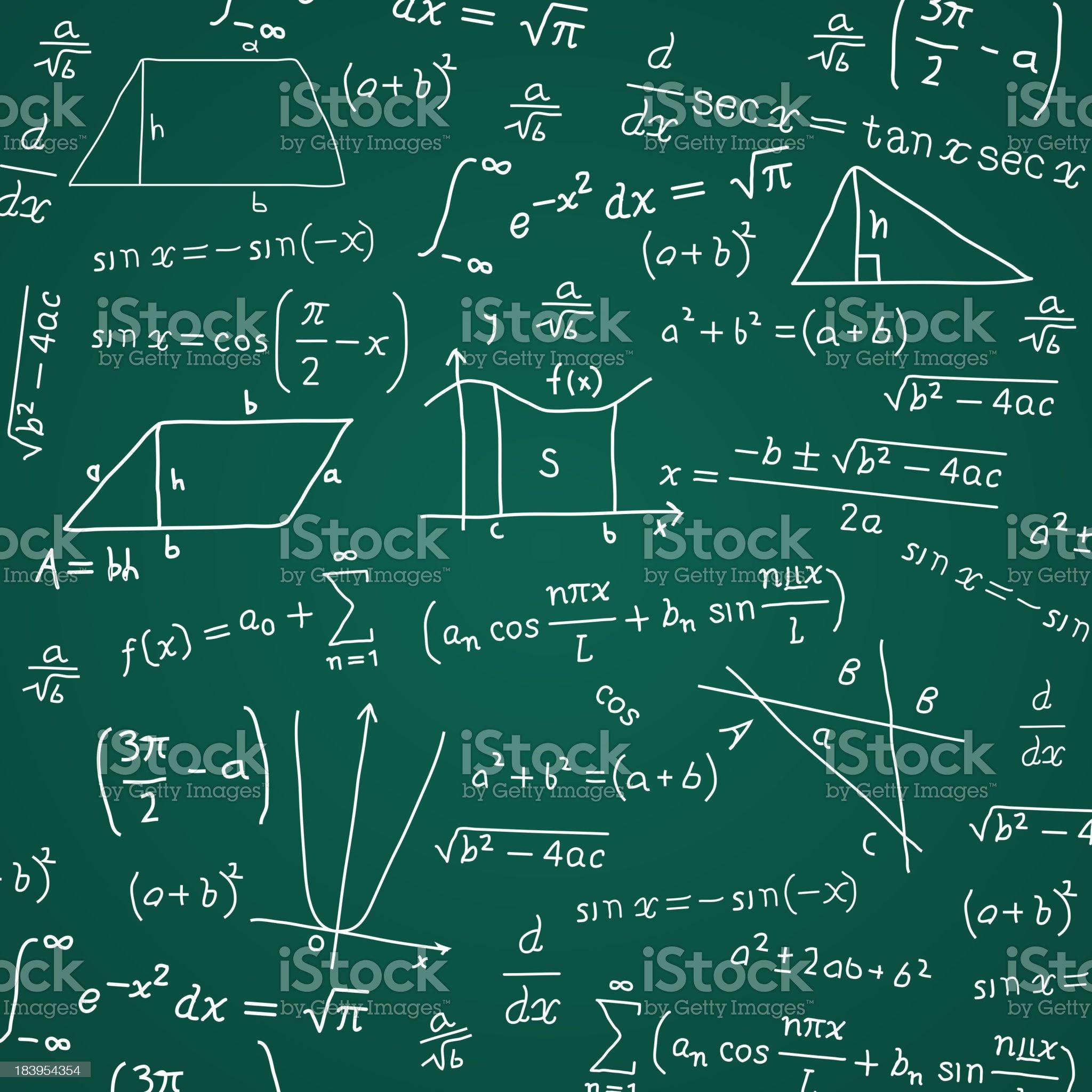 Math Formula Blackboard Calculation royalty-free stock vector art