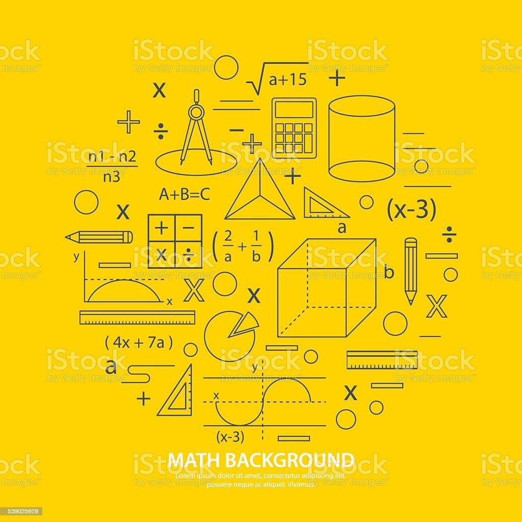 math icon background vector art illustration