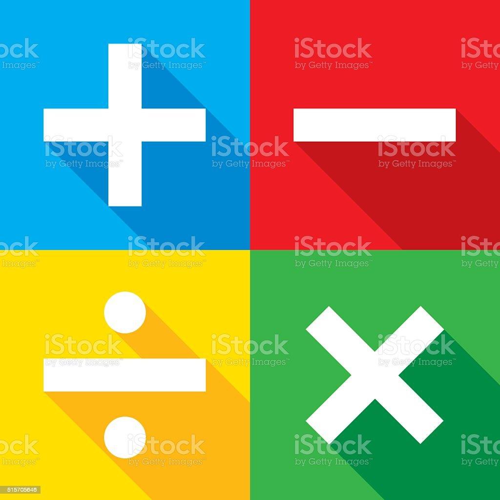 Math Icons Set vector art illustration