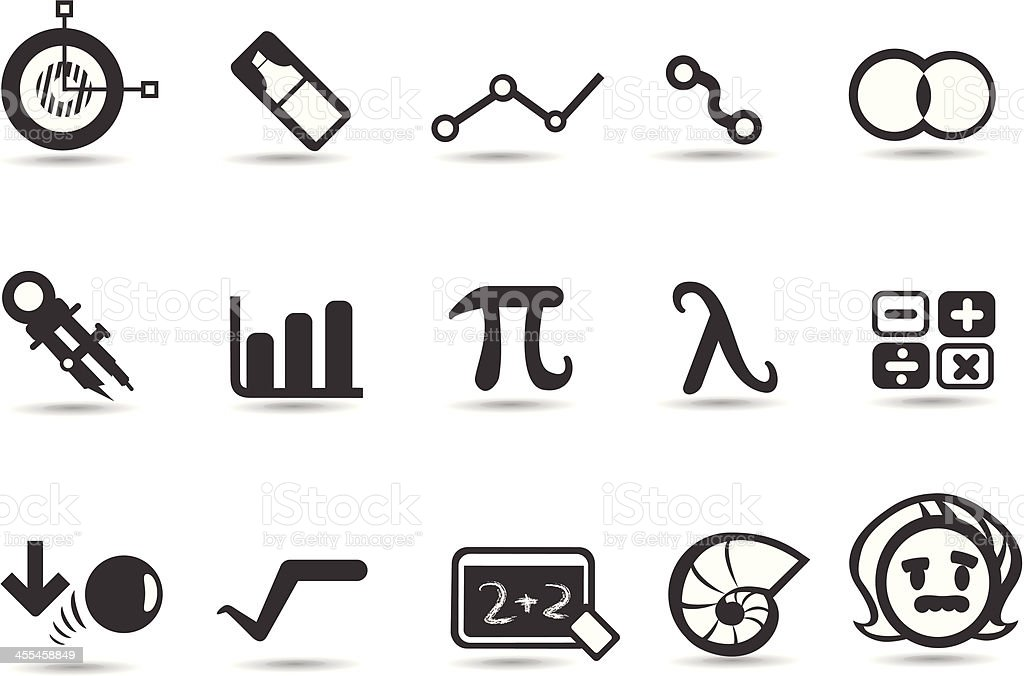 Math Icons vector art illustration